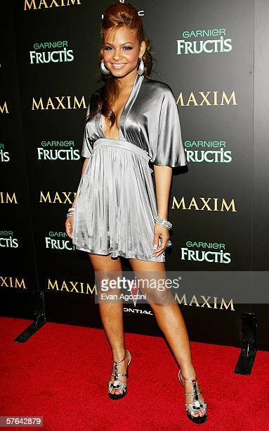 Singer Christina Milian attends Maxim Magazine's 7th Annual Hot 100 party at Buddha Bar May 17 2006 in New York City