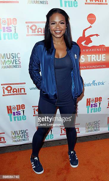 Singer Christina Milian attends the iPain Music Moves Awareness event at The Charleston Haus on September 1 2016 in Los Angeles California