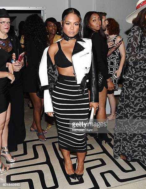 Singer Christina Milian attends the Nicole Miller spring 2017 show Front Row September 2016 New York Fashion Week The Shows at The Gallery Skylight...