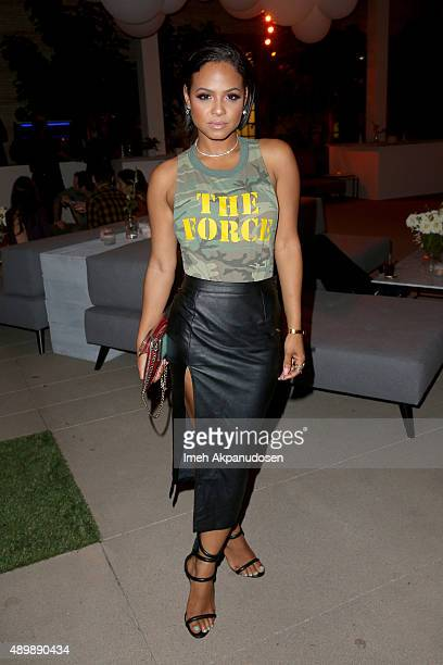 Singer Christina Milian attends the VIP sneak peek of the go90 Social Entertainment Platform at the Wallis Annenberg Center for the Performing Arts...