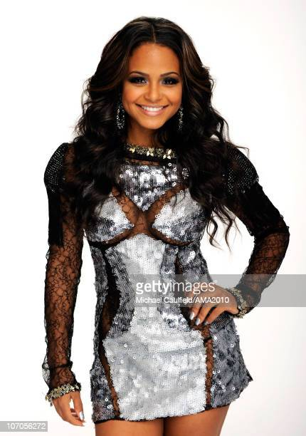 Singer Christina Milian poses for a portrait during the 2010 American Music Awards held at Nokia Theatre LA Live on November 21 2010 in Los Angeles...