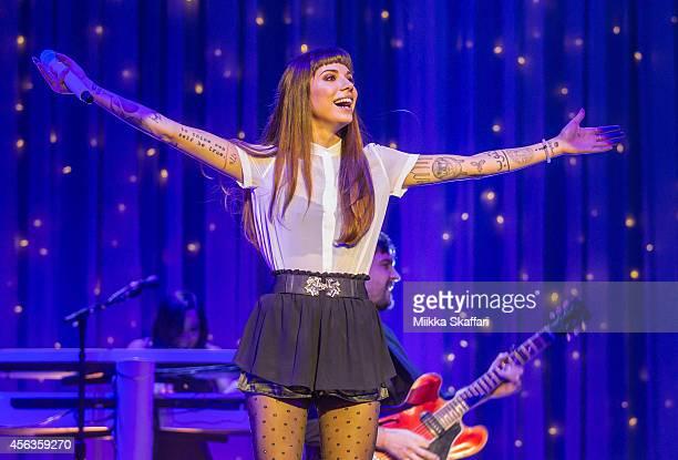 Singer Christina Perri performs at The Masonic Auditorium on September 29, 2014 in San Francisco, California.