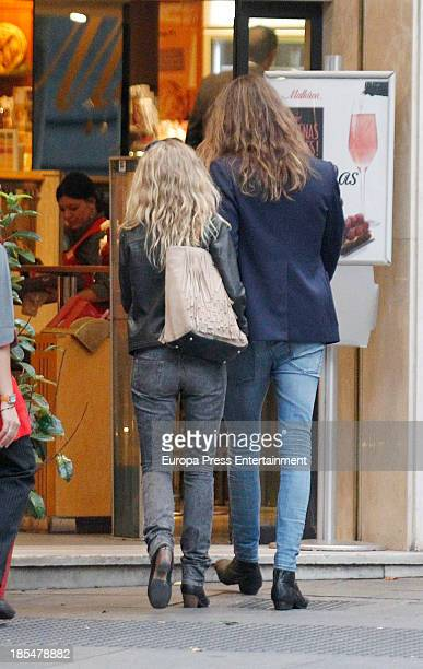 Singer Christina Rosenvinge and her boyfriend are seen on October 17 2013 in Madrid Spain