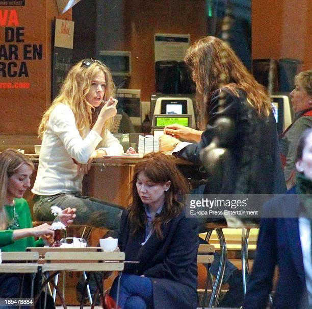 Singer Christina Rosenvinge and her boyfriend are seen on October 17 2013 in Madrid Spain