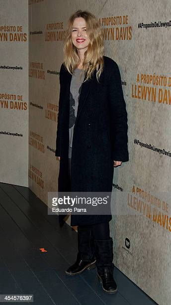 Singer Christina Rosenvinge attends 'A Proposito De Llewyn David' Madrid premiere photocall at Matadero Madrid cineteca on December 9 2013 in Madrid...