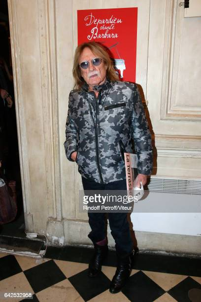 Singer Christophe attends Gerard Depardieu sings Barbara accompanied on the piano of Barbara by Gerard Daguere who was his Pianist for more than 15...