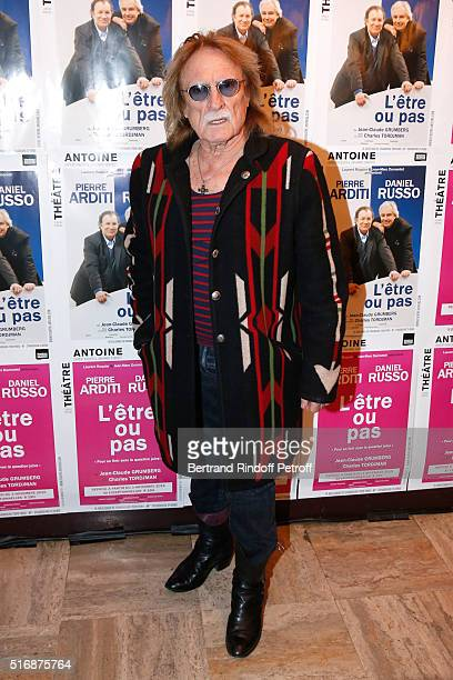 Singer Christophe attends the L'Etre ou pas Theater play at Theatre Antoine on March 21 2016 in Paris France