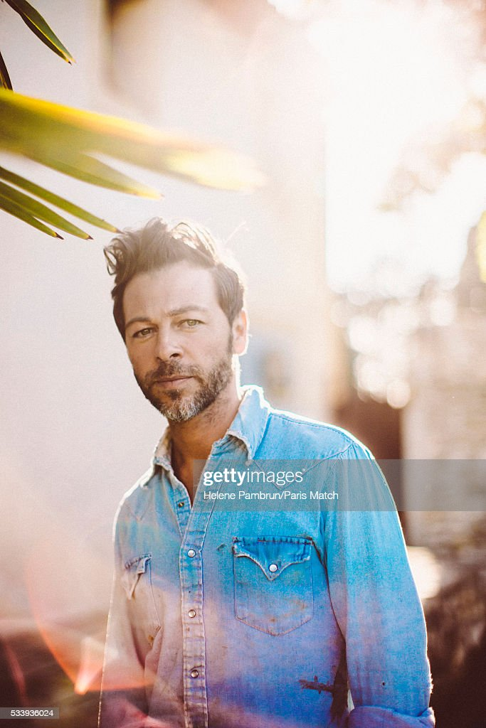 Singer Christophe Mae is photographed for Paris Match on April 29, 2016 in Aix-en-Provence, France.
