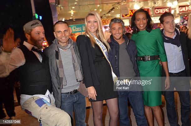 Singer Christophe Mahe look alike Anthony Kaplan singer Allan Theo Miss Prestige Nationale 2012 Christelle Rocca TV personalities Farid Khider...