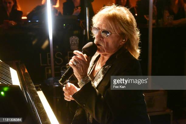 Singer Christophe performs during Les Bains Music Festival Day Two at Les Bains Paris on February 21 2019 in Paris France