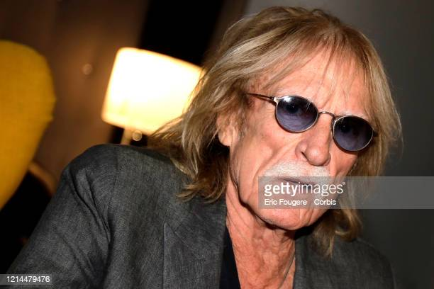 Singer Christophe poses during a portrait session in Paris France on
