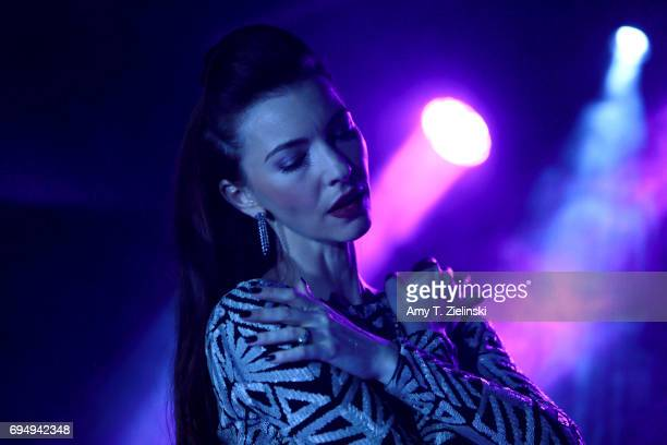 Singer Chrysta Bell performs music from her new album 'We Dissolve' at The Borderline on June 11 2017 in London England The singer songwriter and...
