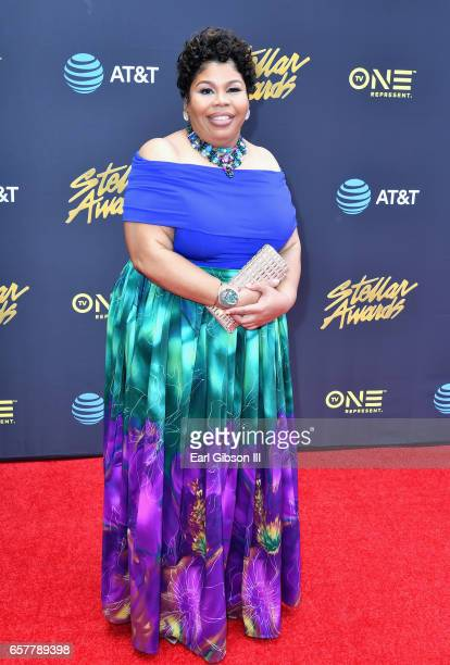 Singer Chrystal Rucker arrives at the 32nd annual Stellar Gospel Music Awards at the Orleans Arena on March 25 2017 in Las Vegas Nevada