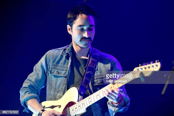 Singer Chuck Criss of the band Computer Games performs onstage at The Fonda Theatre on December 13 2017 in Los Angeles California