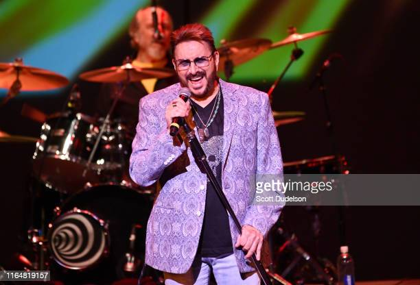 Singer Chuck Negron, founding member of Three Dog Night, performs onstage during the 10th anniversary of the Happy Together Tour at Thousand Oaks...