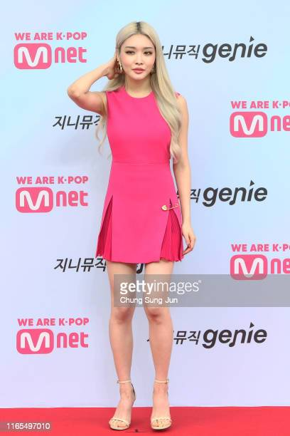 Singer Chung Ha arrives at the M2 X Genie Music Awards on August 01 2019 in Seoul South Korea