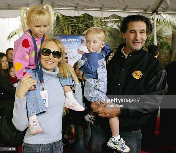 Singer Chynna Phillips husband and actor William Baldwin with their children attend the world premiere of Dr Seuss' The Cat in the Hat at Universal...