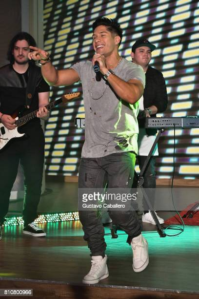 Singer Chyno is seen on the set of 'Despierta America at Univision Studios on July 7 2017 in Miami Florida