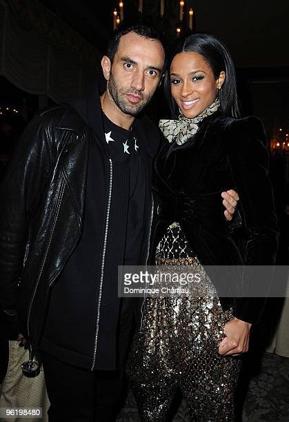 Singer Ciara and Artistic Director of Givenchy Ricardo Tisci attend the Givenchy Private cocktai partyl in his honor at Hotel Ritz on January 26 2010...