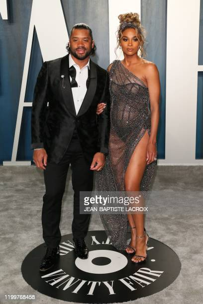 Singer Ciara and husband Russell Wilson attend the 2020 Vanity Fair Oscar Party following the 92nd Oscars at The Wallis Annenberg Center for the...