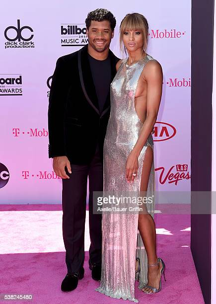 Singer Ciara and NFL player Russell Wilson arrive at the 2016 Billboard Music Awards at TMobile Arena on May 22 2016 in Las Vegas Nevada