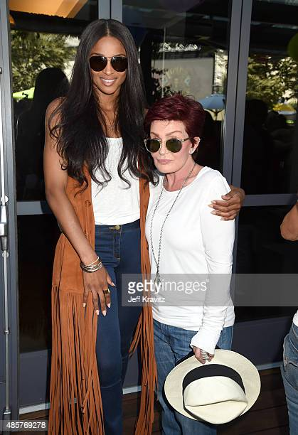 Singer Ciara and Television personality Sharon Osbourne attend EpicFest presented by Chairman and CEO of Epic Records LA Reid at Sony Pictures...