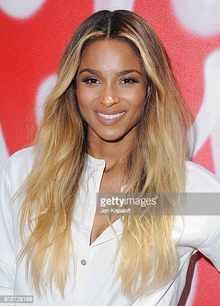 Singer Ciara arrives at Revlon's Annual Philanthropic Luncheon at Chateau Marmont on September 27 2016 in Los Angeles California
