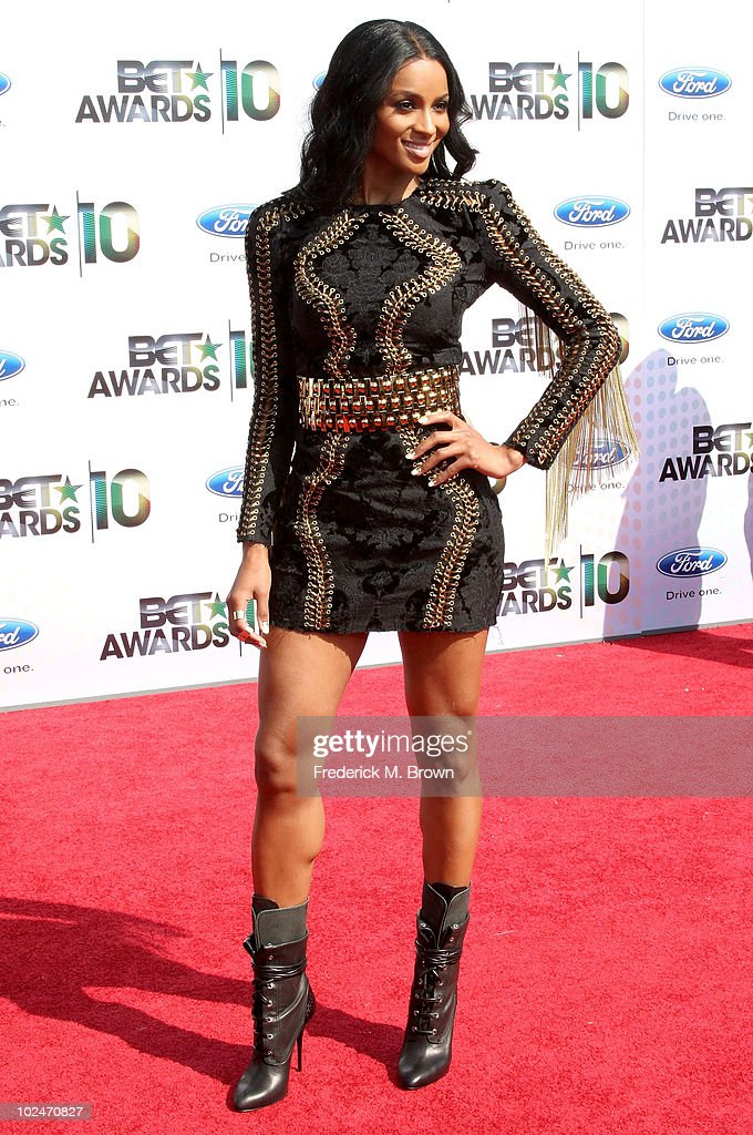 Singer Ciara arrives at the 2010 BET Awards held at the Shrine Auditorium on June 27, 2010 in Los Angeles, California.
