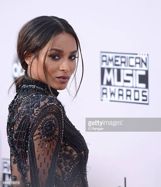 Singer Ciara arrives at the 2015 American Music Awards at Microsoft Theater on November 22 2015 in Los Angeles California