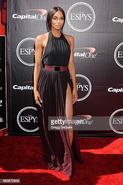 Singer Ciara arrives at The 2015 ESPYS at Microsoft Theater on July 15 2015 in Los Angeles California