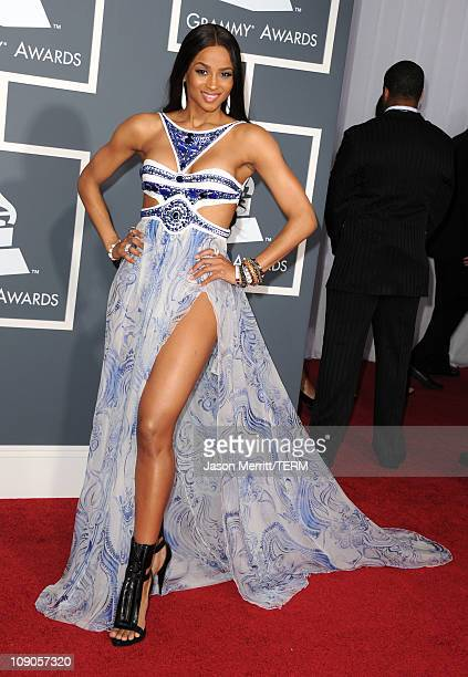 Singer Ciara arrives at The 53rd Annual GRAMMY Awards held at Staples Center on February 13 2011 in Los Angeles California