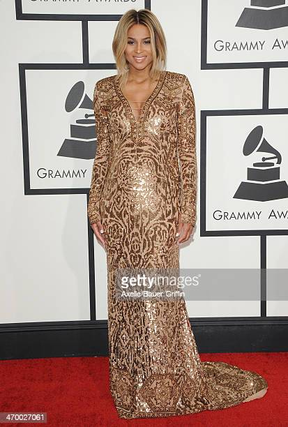 Singer Ciara arrives at the 56th GRAMMY Awards at Staples Center on January 26 2014 in Los Angeles California