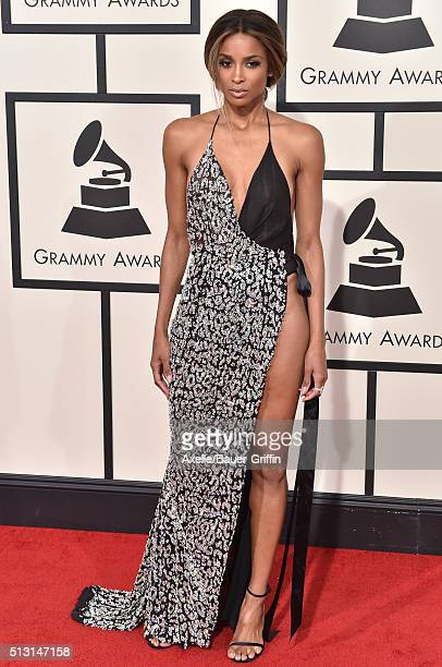 Singer Ciara arrives at The 58th GRAMMY Awards at Staples Center on February 15 2016 in Los Angeles California