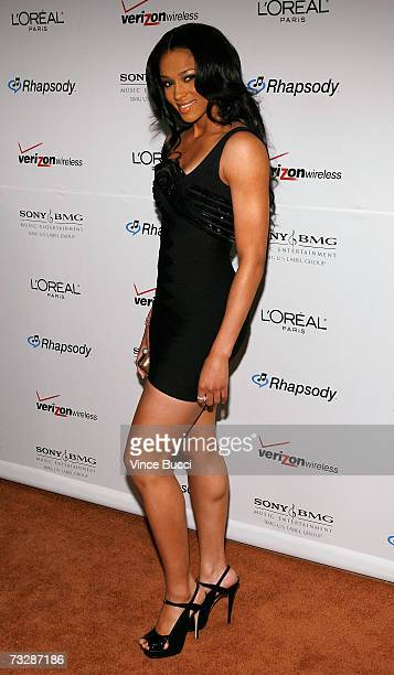 Singer Ciara arrives at the Clive Davis preGrammy party held at the Beverly Hilton on February 10 2007 in Beverly Hills California