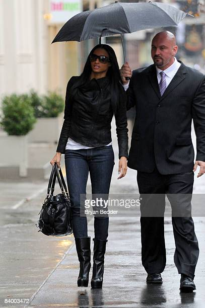 Singer Ciara arrives at the French Connection clothing store in Soho on December 11 2008 in New York City
