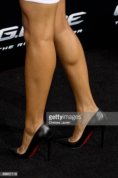 Singer Ciara arrives at the Los Angeles special screening of 'GI Joe The Rise Of The Cobra' at the Grauman's Chinese Theatre on August 6 2009 in...
