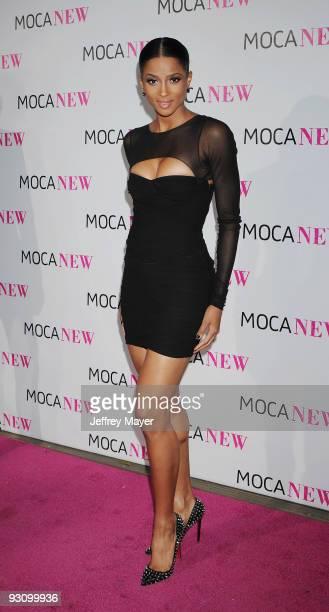 Singer Ciara arrives at the MOCA NEW 30th anniversary gala held at MOCA Grand Avenue on November 14 2009 in Los Angeles California