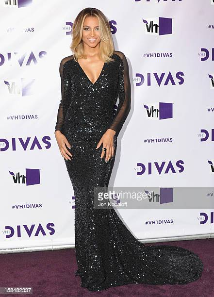 Singer Ciara arrives at the VH1 Divas 2012 at The Shrine Auditorium on December 16 2012 in Los Angeles California