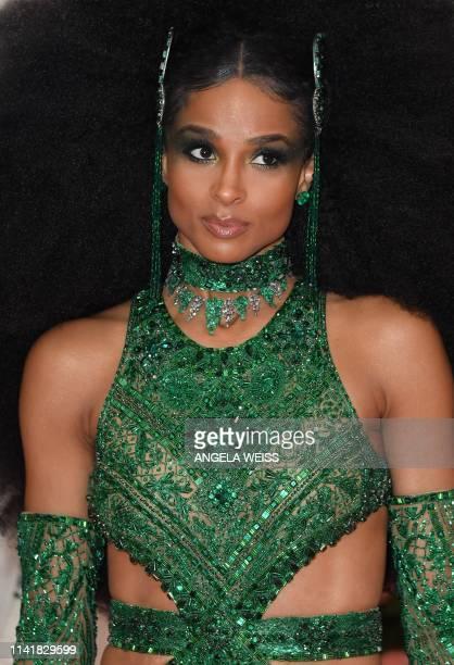 US singer Ciara arrives for the 2019 Met Gala at the Metropolitan Museum of Art on May 6 in New York The Gala raises money for the Metropolitan...