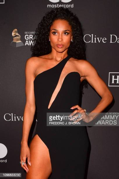 US singer Ciara arrives for the traditional Clive Davis party on the eve of the 61th Annual Grammy Awards at the Beverly Hilton hotel in Beverly...