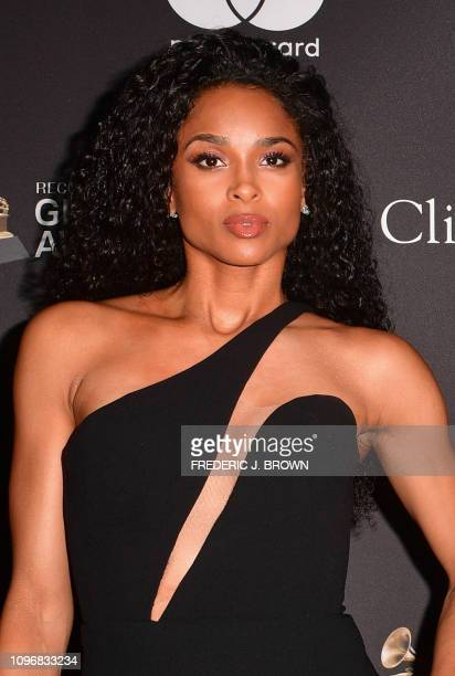 Singer Ciara arrives for the traditional Clive Davis party on the eve of the 61th Annual Grammy Awards at the Beverly Hilton hotel in Beverly Hills,...
