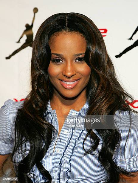 Singer Ciara arrives to the celebration for Jordan Brand's kick off of All Star weekend at the MGM Grand Pavillion Tent inside the MGM Grand...