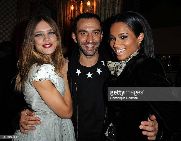 Singer Ciara Artistic Director of Givenchy Ricardo Tisci and Former Model Natalia Vodianova attend the Givenchy Private cocktai partyl in his honor...