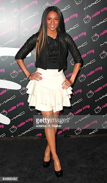 Singer Ciara attends a celebration for MAC's new Hello Kitty Colour Collection hosted by V magazine at Cedar Lake on February 5 2009 in New York City