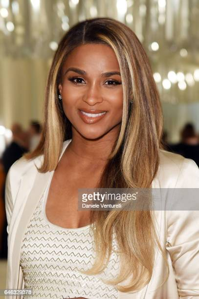 Singer Ciara attends Bulgari at the 25th Annual Elton John AIDS Foundation's Oscar Viewing Party at on February 26 2017 in Los Angeles California