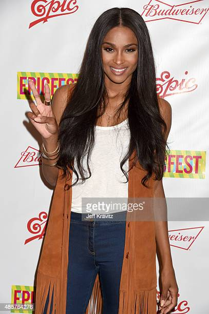 Singer Ciara attends EpicFest presented by Chairman and CEO of Epic Records LA Reid at Sony Pictures Studios on August 29 2015 in Culver City...