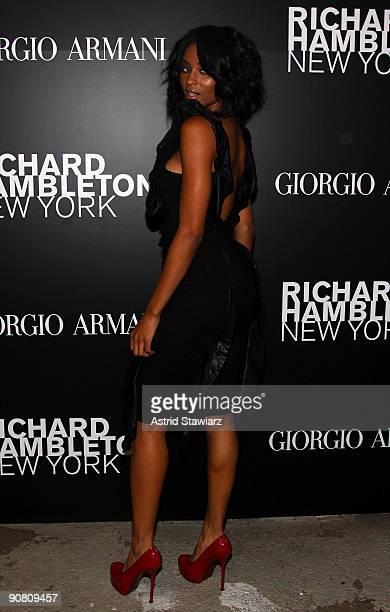 Singer Ciara attends 'Richard Hambleton New York' presented by Vladimir RestoinRoitfeld Andy Valmorbida and Giorgio Armani on September 15 2009 in...