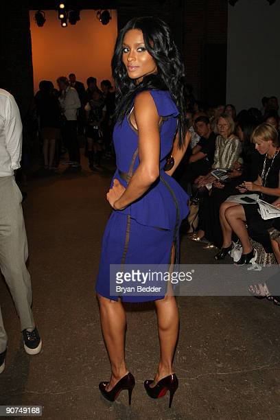 Singer Ciara attends Thakoon Spring 2010 fashion show at Eyebeam on September 14 2009 in New York New York