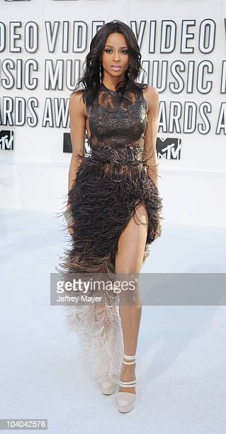 Singer Ciara attends the 2010 MTV Video Music Awards at Nokia Theatre LA Live on September 12 2010 in Los Angeles California