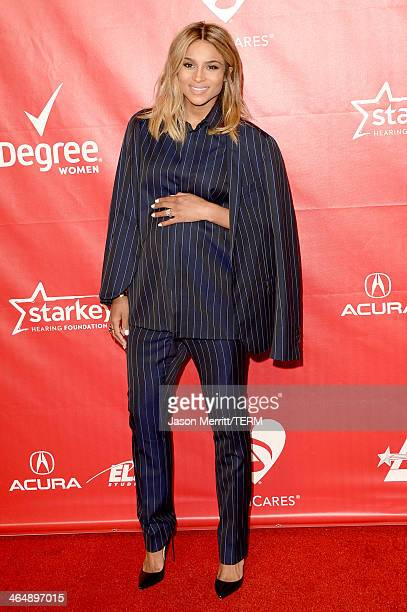 Singer Ciara attends The 2014 MusiCares Person Of The Year Gala Honoring Carole King at Los Angeles Convention Center on January 24 2014 in Los...